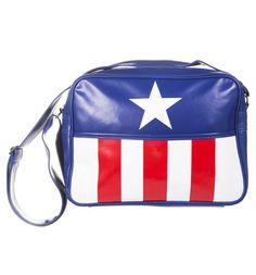 Captain America Logo Marvel Messenger Bag