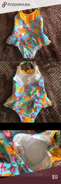 NWOT-Girls Circo Bathing Suit-9 Months New without tag!  Infant girls Circo brand pineapple bathing suit-Size 9 months.  Item comes from a smoke free and pet free home!  Must sell!  Make REASONABLE OFFERS! Circo Swim One Piece