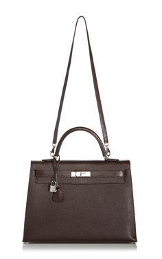 Hermes 35Cm Cocoan Chevre Leather Kelly by Heritage Auctions Special Collection for Preorder on Moda Operandi