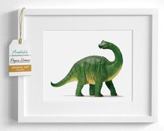 Happy green brontosaurus artwork for a playful kid's room. This little green dino art print is perfect for brightening up a children's space. Shop the complete collection of toddler art at Paper Llamas! Baby Giraffe Nursery, Woodland Animal Nursery, Girl Rooms, Boy Room, Minimalist Nursery, Nursery Artwork, Dinosaur Art, Toddler Art, Nursery Inspiration