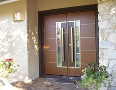 Amazing Contemporary Double Entry Doors Brilliant Modern Exterior Double Doors With Best 25 Contemporary Double Front Entry Doors, Double Doors Exterior, Modern Exterior, Double Door Design, Front Door Design, Modern Entry, Modern Door, Wooden Patio Doors, Wooden House
