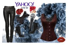 """VOICE"" by jelena-topic5 ❤ liked on Polyvore featuring Balmain, Ann Demeulemeester, Tom Binns, Alaïa, Lime Crime, thevoice and YahooView"
