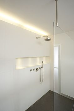 42 LED strip for modern interior lighting, beautiful and practical - toilet Modern Shower, Modern Bathroom, Small Bathroom, Master Bathroom, Shower Niche, Shower Enclosure, Shower Stalls, Frameless Shower, Shower Bathroom
