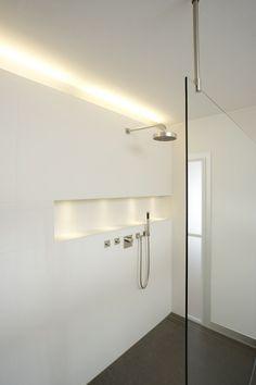 indirekte beleuchtung led badezimmer led streifen wandnische licht pinterest wohnen bad. Black Bedroom Furniture Sets. Home Design Ideas