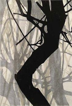 Helen Mueller, 'Requiem Study 17' 2013, woodblock print, overlayed - unique, 38 x 26cm