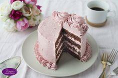 Schokoladen Torte mit italienischer Himbeer Meringue - Chocolate Cake with italian buttercream