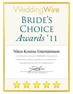 Our 2011 Bride's Choice Award