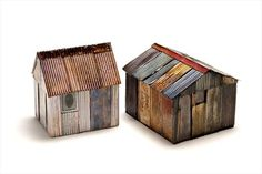 Evangeline Long, enameled shed constructions