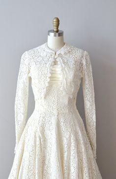 lace 50s wedding dress / 1950s dress / Epithalamium by DearGolden