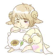 Sleepy with a Sheep - Hetalia - Russia (Ivan Braginski)