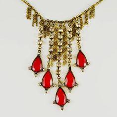 Royal Gemstones Decor Tassel Design Necklace @ MayKool.com