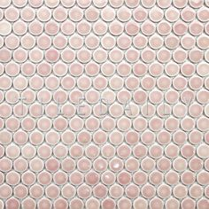 Rose Pink Penny Round Porcelain Mosaic - (Pack of 10) Beautiful rose pink penny tile for your home remodel.