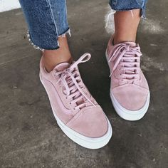 Dusty Pink Vans old school