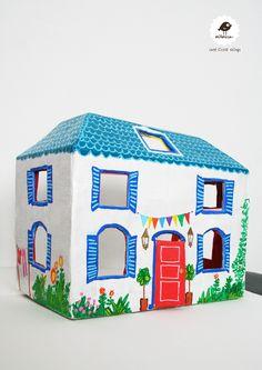 Una casita de cartón: tutorial