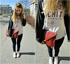 .yesterday i was bling-bling & sporty. (by Paulina S) http://lookbook.nu/look/3285729-yesterday-i-was-bling-bling-sporty