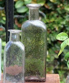 Vintage Glass Bottle Rect - Lrg - Antique Lilac