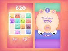 ArtStation - 2048 Cute Monsters - Mobile game GUI and graphics, Rafał Urbański