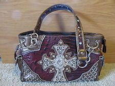 WILD OUT WEST RED BRONZE BLING CROSS PURSE GORGEOUS *NEW W/TAG