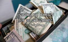 Life goal: not having money, but having enough money to go on crazy insane…