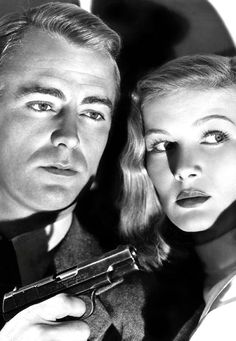 Alan Ladd and Veronica Lake. These two were the perfect pairing. Film Noir at it's best. Golden Age Of Hollywood, Hollywood Stars, Classic Hollywood, Old Hollywood, Veronica Lake, Classic Film Noir, Classic Films, Lauren Bacall, Cary Grant