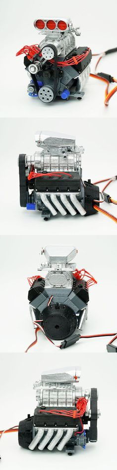 Remote-Controlled Toys 84912: Darkdragonwing® 1 10 Rc Ohv V8 Fd Engine Painted And Assembled -> BUY IT NOW ONLY: $90 on eBay!