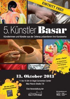 Im Vogel Convention Center Würzburg. 50 KünstlerInnen stellen aus. Eintritt frei.