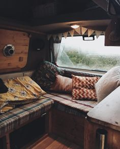 Waking up in a van in winter; steamy windows, woolly hats and cold socks. #therollinghome