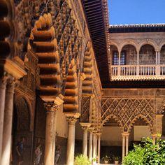 #seville #spain #vacation #palace #realalcazar #alcazar #bluesky