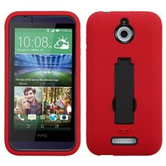 MYBAT Symbiosis Kickstand HTC Desire 510 Case - Red/Black