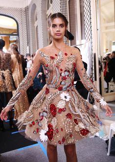 Sara Sampaio || backstage @ Zuhair Murad Spring 2018 Couture