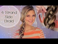 4-Strand Side Braid!!  This is a cute way to keep hair back during warmer weather.
