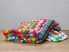 Crocheted Baby Afghan Blanket by LittleDixieVintage on Etsy