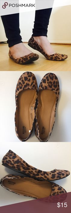 Mossimo   Leopard Print Ballet Flat Massimo Leopard Print Ballet Flats. Have a scrunchy style. Worn a couple times but no flaws. Fits true to size. Amazing as a closet neutral these can go with anything! Fit true to size. Mossimo Supply Co. Shoes Flats & Loafers
