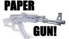 How To Make A Paper Gun That Shoots Spoof