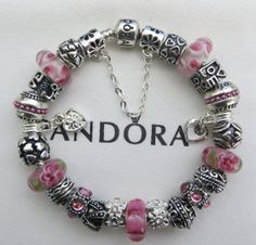 """Authentic Pandora Sterling Silver Bracelet Receipt, Hinged Pandora Gift Box and European Beads/Charms 25 """"FREE Shipping, FREE Grab-Bag"""""""