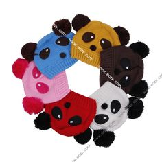 New Panda Hat For Baby Toddler Beanie Warm Wool Knit Cap #eozy
