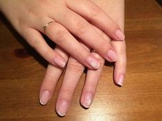 Winter nails - french manicure with snowflake detail (OS F2 french pink, OS44 white and snowflake sticker)