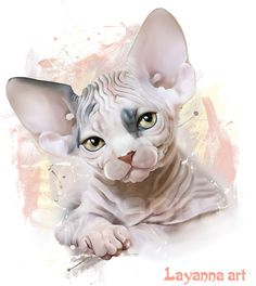 Sphynx Cat T-Shirt Animal Digital Painting Clothing Custom Pet