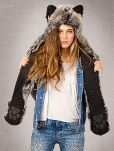 Spirit hood :: ADULTS :: Women's Full Hoods :: Grey Wolf
