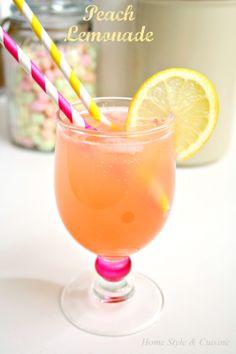 Homemade Peach Lemonade!