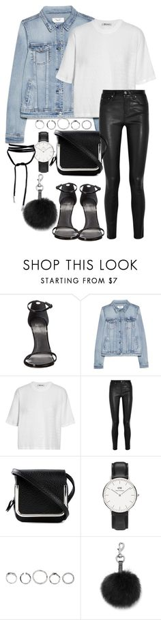 """""""#710"""" by blendingtwostyles ❤ liked on Polyvore featuring Stuart Weitzman, MANGO, T By Alexander Wang, Helmut Lang, Carven, Daniel Wellington and Rebecca Minkoff"""