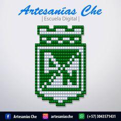 Descarga gratis 6 esquemas de escudos del Fútbol Colombiano – Artesanías Che Football, Tapestry, Diy Crafts, Beads, Canvas, Logos, Pattern, Mario Bros, Tumblr