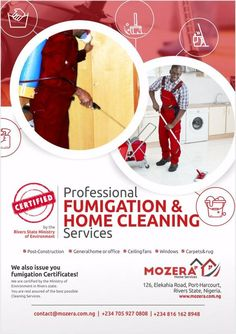 Professional Cleaning & Fumigation Services in Port Harcourt Call 07059270808, 08161628948 #cleaning #fumigation #portharcourt #pestcontrol