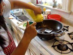 Cooking 入廚 30秒 蒜葱蛋炒飯
