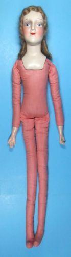Vintage-Boudoir-Doll-Composition-Head-Hands-Cloth-Body