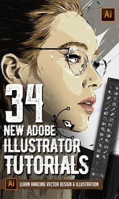 Illustrator Tutorials: 34 New Vector Tuts to Learn Drawing and Illustration - My best design list Visual Design, Graphisches Design, Vector Design, Logo Design, Typography Design, Design Elements, You Draw, Learn To Draw, Learn Drawing