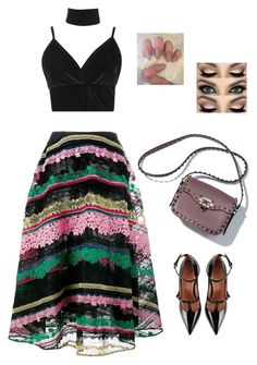 """""""Untitled #938"""" by alwateenalr ❤ liked on Polyvore featuring Valentino, Boohoo and RED Valentino"""