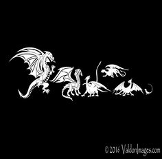 My dragon family car decal dragon laptop decal by ValdonImages