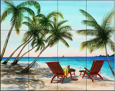 Tropical Vacation    - Tile Mural