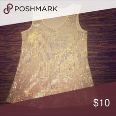 Sequined White Tank Top Simple and sexy sequined white tank top! Go glam with this top 💋 True to size. Never been worn! Tops Tank Tops